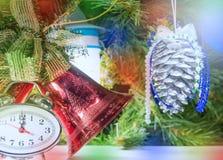 De uren van het nieuwjaarklatergoud Royalty-vrije Stock Foto