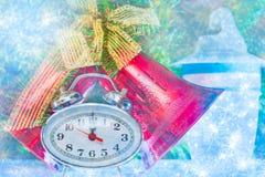 De uren van het nieuwjaarklatergoud Stock Foto