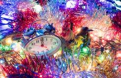 De uren van het nieuwjaarklatergoud Royalty-vrije Stock Afbeelding