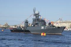 ` De Urengoy del ` de IPC en el desfile en honor del primer del día de la victoria St Petersburg Foto de archivo