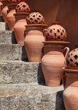 De urnen van het terracotta royalty-vrije stock afbeeldingen