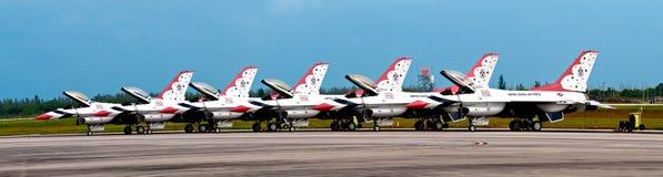 De USAF Thunderbirds Pano Stock Foto