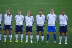 Lag för fotboll för USAs medborgarekvinnor Royaltyfria Foton