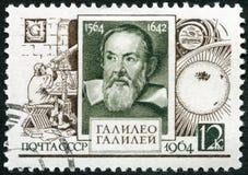 De USSR - 1964: toont Galileo Galilei (1564-1642), 400ste geboorteverjaardag Stock Foto's