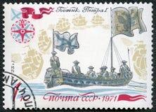 De USSR - 1971: toont Peter I het Herzien Vloot royalty-vrije stock foto's