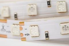 De UVclose-up van de diodestrook Royalty-vrije Stock Afbeeldingen