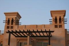 De V.A.E. Ras al Khaimah. Al Hamra het hotel & het strand van het Fort Stock Afbeeldingen