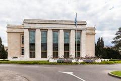 De V.N.-de bureaubouw in Genève Stock Foto