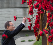 De V.N. Secretaris-generaal Ban Ki-moon stock afbeelding