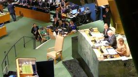 De V.N. Secretaris-generaal Ban Ki-moon stock videobeelden