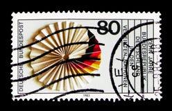 De V.N. (de Verenigde Naties), het Lidmaatschap van Duitsland, 10de Verjaardag serie, Royalty-vrije Stock Afbeelding