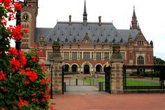 De V.N.-vredespaleis in Den Haag, Nederland Stock Foto