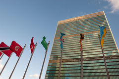 De V.N. in zitting Stock Foto