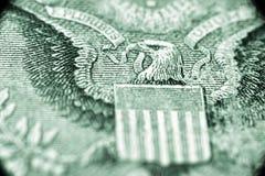 De V.S. één dollarmacro royalty-vrije stock afbeeldingen