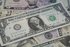 De V.S. Één dollarrekening Stock Foto's