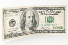 De V.S. 100 dollarrekening aan kant Royalty-vrije Stock Foto's