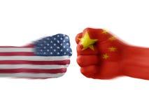 De V.S. & China - meningsverschil Stock Afbeelding