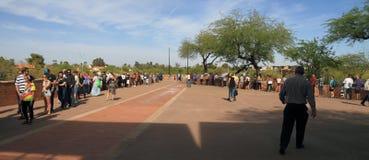De V.S., Arizona: Voorverkiezingen 2016 - Lange Stemmingslijnen in Arizona Stock Afbeelding