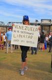 DE V.S., AZ: Verzameling voor Venezuela > Protestteken Royalty-vrije Stock Foto