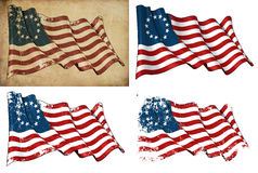 De V.S. Betsy Ross Historic Flag Royalty-vrije Stock Afbeeldingen