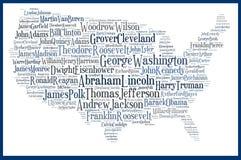 De V.S. brengen Amerikaanse voorzitters in kaart Royalty-vrije Stock Foto