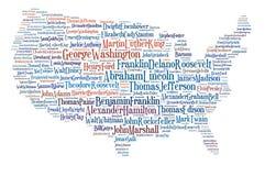 De V.S. brengen grote mensen in kaart. Stock Foto's