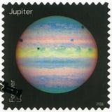 DE V.S. - CIRCA 2016: toont Jupiter, reeksmeningen van Onze Planeten Royalty-vrije Stock Foto's
