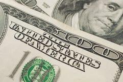 De V.S. 100 dollarsrekeningen Royalty-vrije Stock Afbeelding