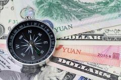 De V.S. en China financieren economische richting, handelsoorlog, de invoer en e stock fotografie