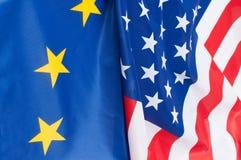 De V.S. en Europa Stock Foto's