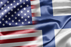 De V.S. en Finland stock illustratie