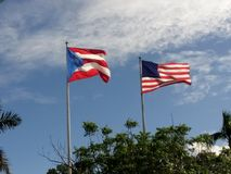 De V.S. en Puerto Rico Flags Stock Fotografie