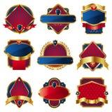 De V.S.etiketten van de luxe Royalty-vrije Stock Afbeeldingen
