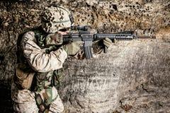 De V.S. Marine Soldier stock afbeeldingen