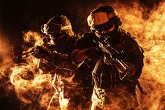 De V.S. Marine Soldier Het vechten voor vrijheid stock fotografie