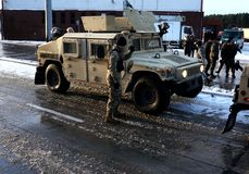 de V.S. militair in Polen royalty-vrije stock foto