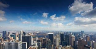 15 03 2011, de V.S., New York:: De mening van observat Stock Foto