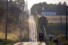 De V.S. - Ohio - Amish royalty-vrije stock afbeelding