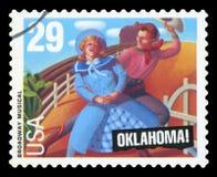 De V.S. - Postzegel stock afbeeldingen
