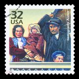 De V.S. - Postzegel royalty-vrije stock afbeelding