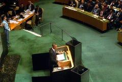 De V.S. President Barack Obama toespraak Royalty-vrije Stock Foto