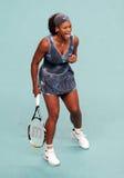 De V.S. 's Serena Williams reageren bij Open GDF Suez Stock Afbeelding