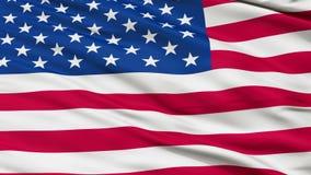 De V.S. sluiten omhoog Golvende Vlag stock illustratie