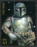 De V.S. - 2007: toont Boba Fett, reekspremière van Film Star Wars 30 verjaardag Stock Foto