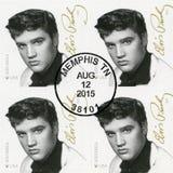 De V.S. - 2015: toont Elvis Presley 1935-1977, de zanger, gitarist, musicus, de Reeks van Muziekpictogrammen Royalty-vrije Stock Foto's