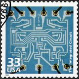 De V.S. - 1999: toont Geïntegreerde schakeling, vieren de reeksen de Eeuw royalty-vrije stock foto's