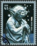 De V.S. - 2007: toont portret van Yoda, reekspremière van Film Star Wars 30 verjaardag Royalty-vrije Stock Afbeeldingen