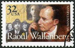 De V.S. - 1997: toont Raoul Gustaf Wallenberg 1912-1945, Zweedse architect, zakenman, diplomaat en humanitair stock foto