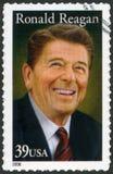 De V.S. - 2005: toont Ronald Reagan (1911-2004), 40ste Voorzitter Stock Foto