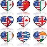 De V.S. verdeelde liefde Stock Foto's